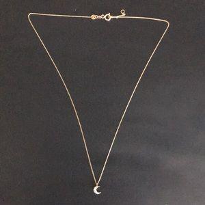 Kismet by Milka Diamond Half moon necklace